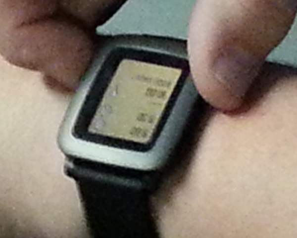Pebble Time demo watch